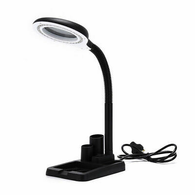 Dimmable Magnifying Crafts Glass Desk Lamp With 5/10X Magnifier With Light 40LED