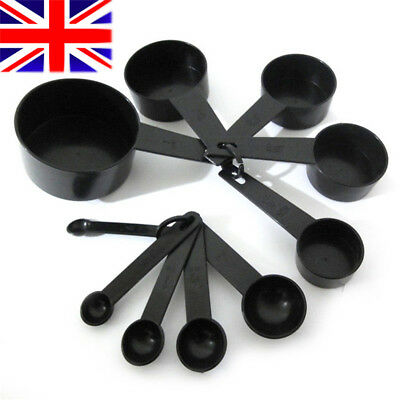 10pcs Plastic Measuring Cups and Spoons for Baking Tea Coffee Kitchen Tools  UK