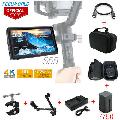 FEELWORLD S55 1280x720 IPS Camera Field DSLR Monitor Focus Assist for DSLR KIT