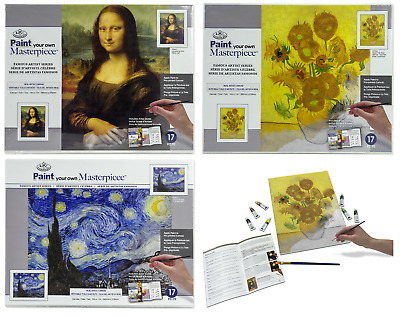 Paint Your Own Artist Masterpiece Canvas Picture Like By Numbers Painting Kit