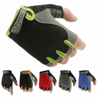 Unisex Sport Gloves Half Finger Workout Wrist Wrap Gym Fitness Cycling Mittens
