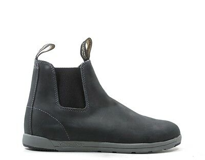 Shoes BLUNDSTONE Man Ankle boots BLUE Leather natural BCCAL0323-1428US