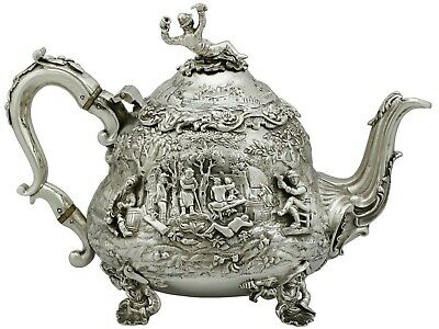 English Sterling Silver Teapot - Antique George IV (1828)