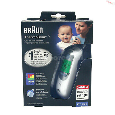 Baby&Adult Professional Digital Ear Thermometer LCD Braun ThermoScan 7 IRT 6520