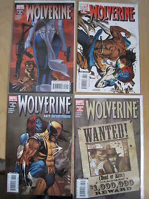 """WOLVERINE issues 62,63,64,65 : COMPLETE 4 ISSUE 2008 """"GET MYSTIQUE"""" STORY ARC"""