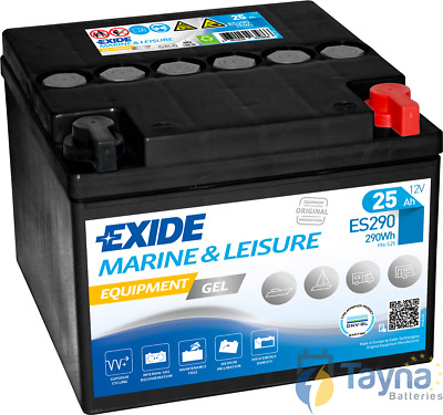 ES290 Exide Equipment Marine and Multifit Gel Versorgerbatterie 25Ah