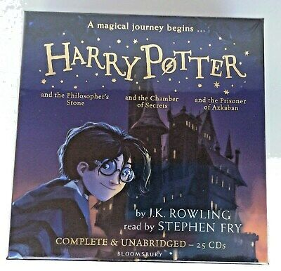 Harry Potter Audio Book Collection, Books 1 - 3  On 25 CDs, J K Rowling, New