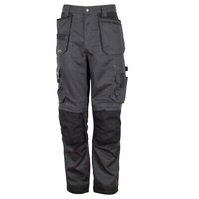 Apache ATS 3D Grey/Black Stretch Cargo Holster Work Trousers size 30-40