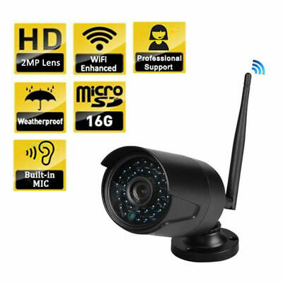 Outdoor Wireless 720P WIFI IP Camera SD Slot Network Night Vision CCTV Security