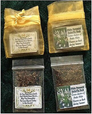 POEM Free Shipping 25 Gold 50TH Anniversary Favors with Rose of Sharon Seeds