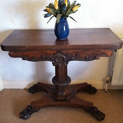 William IV Rectangular Fold Over Card Table 1830s