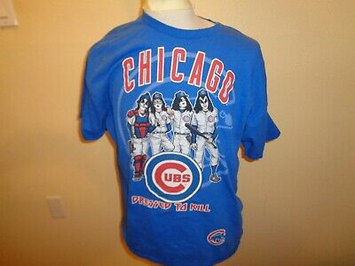 506db718391 Large Mens KISS Band Dressed to Kill Chicago Cubs 1-sided rock t-shirt