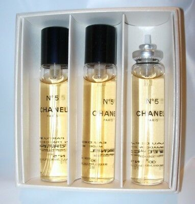 c67d84369d39 Chanel No 5 Eau Premiere Twist & Spray 20 Ml Perfume Edp Purse Atomizer  Refills