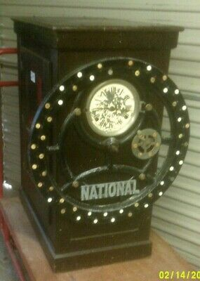 Very old & rare National Time Recorder CLOCKING IN CLOCK for restoration