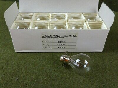 10 Chicago Miniature Lamp CM-8840X 12V Incandescent Bulbs NEW