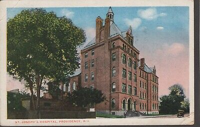 OLD COLORIZED PHOTO Postcard St  Joseph's Hospital Providence RI 1918 Color