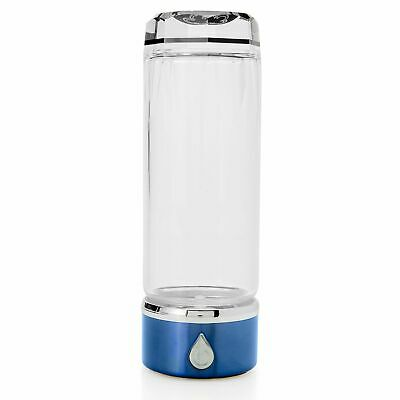 Cook's Companion 14 oz Glass Hydrogen-Enriching Water System Blue #B416067