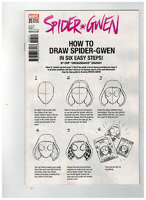 SPIDER-GWEN #25  1st Printing - Zdarsky How to Draw Variant / 2017 Marvel Comics