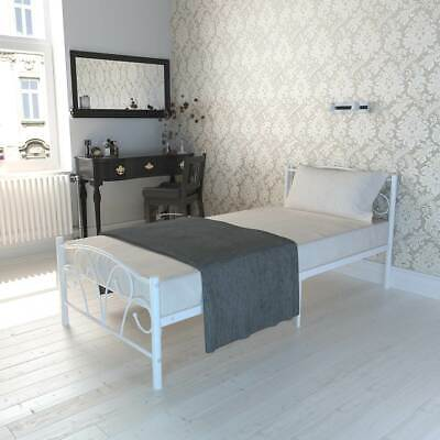 3FT Single Bed Frame Metal Vintage Victorian Style In White