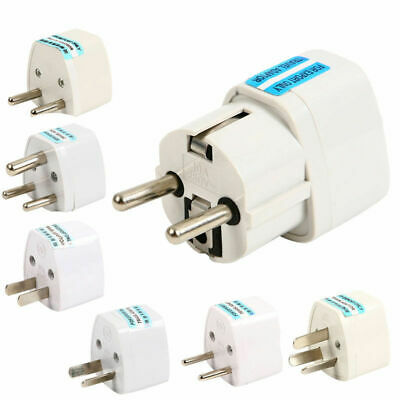 US UK AU To EU Europe Travel Charger Power Adapter Converter Wall Plug Home RX