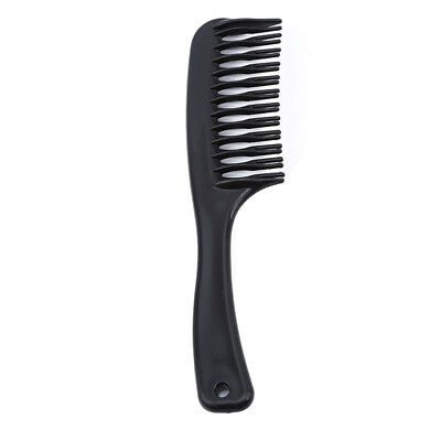 Black Plastic Comb Close Teeth Head Massage Hair Care Hair Comb with Handle BS