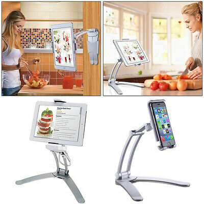 Multifunction Kitchen Fold Wall Mount iPad Tablets iPhone Stand Holder Bracket
