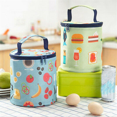Portable Insulated Thermal Cooler Bag Lunch Picnic Food Bag Thermos Bucket LG