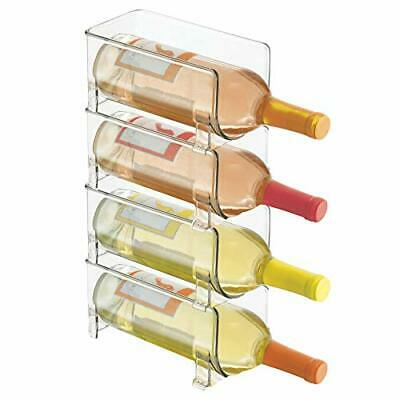 mDesign Soporte para botellas de vino apilable – Botellero para (Set of 4)