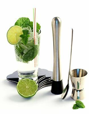 YOKO DESIGN 1238 - Kit para preparar mojitos (acero inoxidable, 21,6 x 17,5 x 5