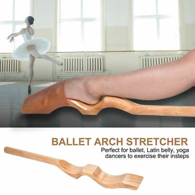 US Wooden Ballet Dance Foot Stretch Stretcher Arch Enhancer with Elastic Band
