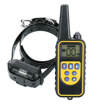 875 Yard Waterproof Electric Dog Shock Collar With Remote For Large Pet Training