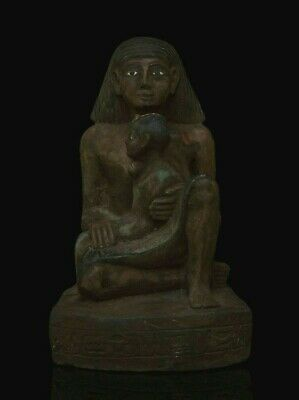 ANCIENT EGYPT ANTIQUE EGYPTIAN Statue PHARAOH Old Kingdom Carved, LIMESTONE BCE