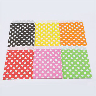 25pcs Wave Polka Dot Paper Bag Candy Favor Wedding Birthday Gift Decor Cover LG
