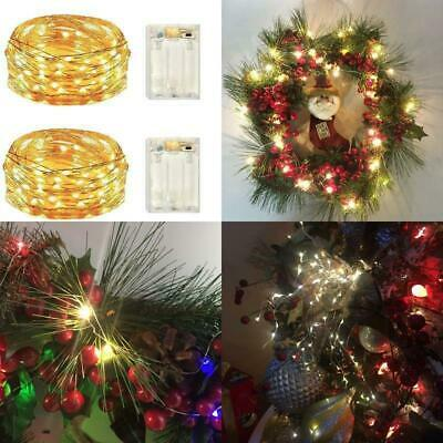 2 Pack Battery Operated Led Lights,Mini Led Fairy Lights With Timer 6Hours On/18