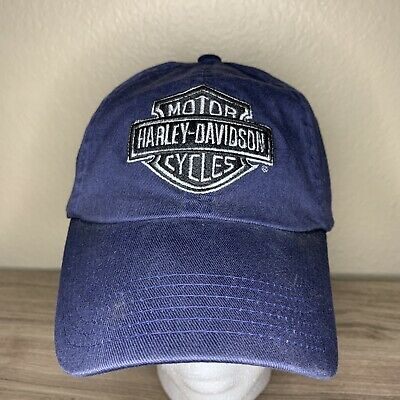 4ccec078fe172 Harley-Davidson Men s Navy Blue Embroidered Baseball Cap shield stretch fit  S M