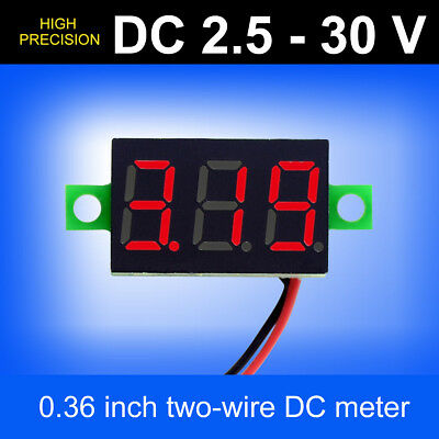 Mini LED 3-Digital Display Volt Voltage Voltmeter Panel Accurate Meter DC2.5-30V