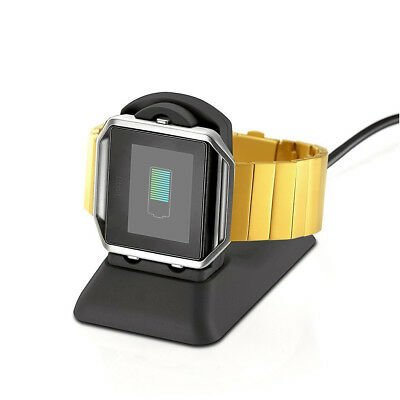 2in1 USB Charging Cradle Cable Dock Stand Holder Charger for Fitbit Blaze Watch