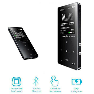 Bluetooth Digital MP3 Music Player Portable Support 128GB TF Card FM Radio Mini