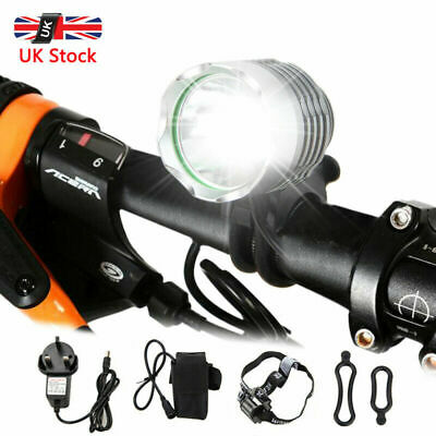 Ultra Bright MTB Bike Cycling Front Light USB Rechargeable T6 LED Waterproof