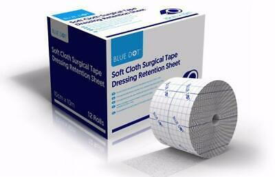 Blue Dot Soft Cloth Surgical Adhesive Dressing Retention Sheet Tape 5cm or 10cm