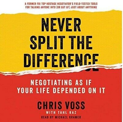 Never Split the Difference By Chris Voss (audio book, e-Delivery)
