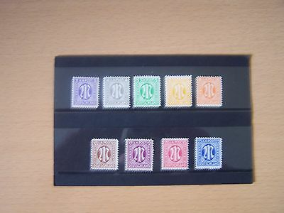 Germany 1945 Allied Occupation,british & American Zones,9 Vals,u/mint.excellent.