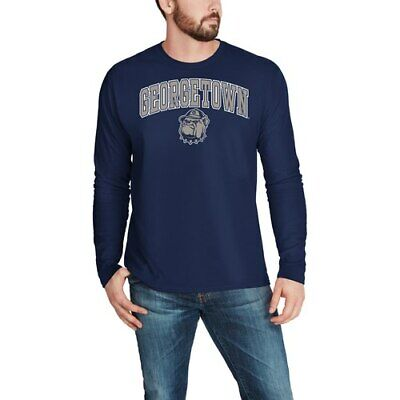 c46be9d5a7a411 GEORGETOWN HOYAS FANATICS Branded Campus Long Sleeve T-Shirt - Navy ...