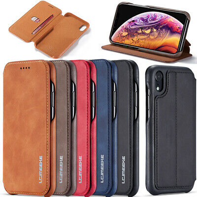 Magnetic Luxury Leather Flip Wallet Case Cover For iPhone XS Max XR X 8 7 6 UK
