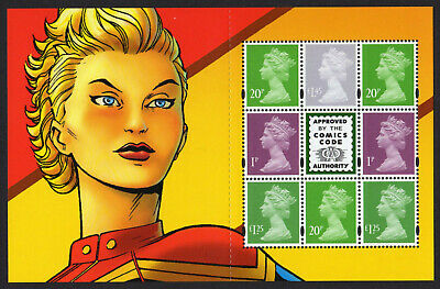 2019 MACHIN DEFINITIVES PANE from Marvel Comics PSB DY29 Mint