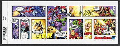 2019 MARVEL COMICS Stamp Mini Sheet Mint - WITH BARCODE MARGIN