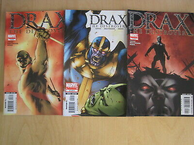 DRAX the DESTROYER : 1,2,3 of the 4 issue 2005 MARVEL series. THANOS. INFINITY