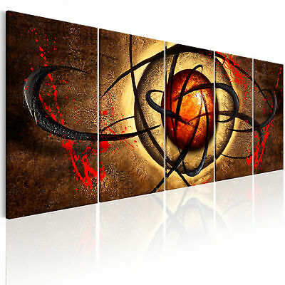 Non-woven Canvas Print Abstract Framed Wall Art Picture Photo Image a-A-0314-b-m