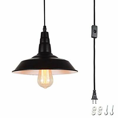Plug In Hanging Lamps Swag Pendant Ceiling Light Shade Fixture