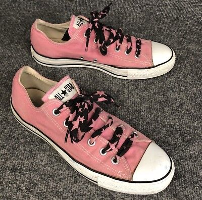 1c3db6bf42cd Converse All Star Womens Size 8 Chuck Taylor Pink Canvas Low Top Sneakers